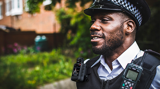 body camera in use by security